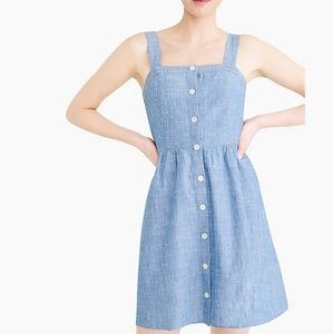 J. Crew Button Chambray Dress - 10